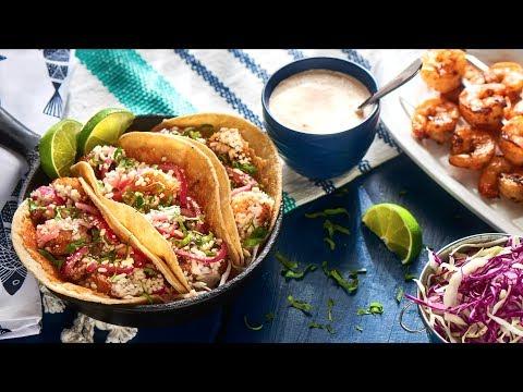 Tequila Grilled Shrimp Tacos