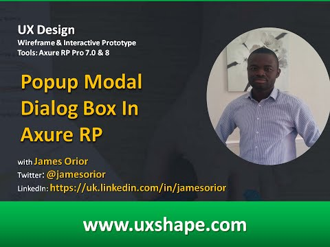 Popup Modal Dialog Box In Axure RP