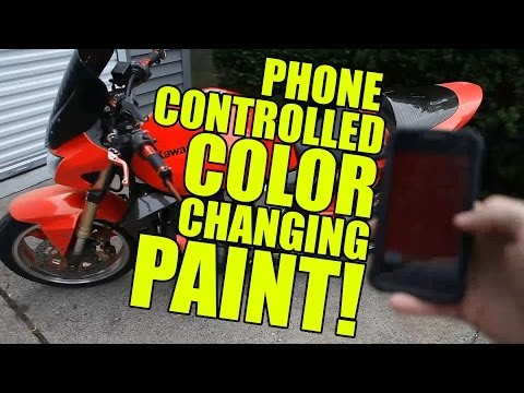 Amazing Color Changing Paint! Phone Controlled!