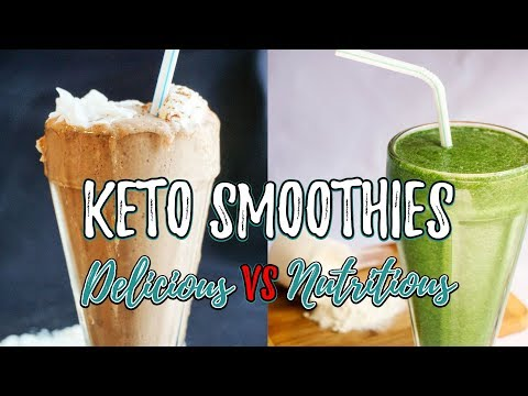 Low Carb Smoothies | Delicious VS Nutritious | Keto Green Smoothie vs Chocolate Coconut Smoothie