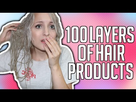 100 LAYERS OF HAIR PRODUCTS | GEL, HAIRSPRAY, WAX & MORE