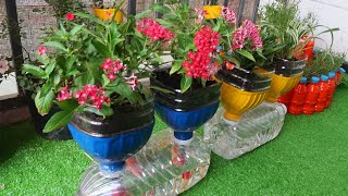 Amazing Flower Pots Recycled From Plastic Bottles | Garden Ideas