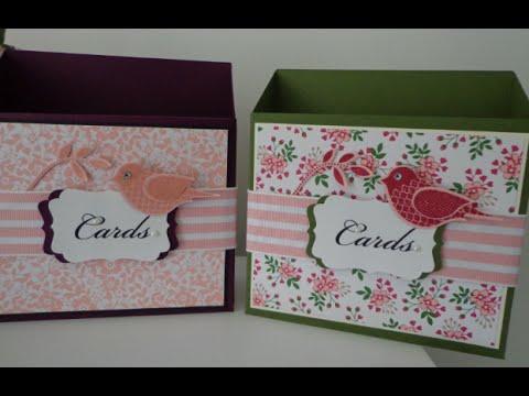 ~ card storage box ~tutorial