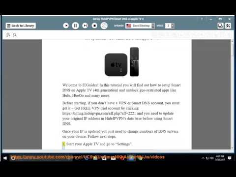 Set up HideIPVPN Smart DNS on Apple TV 4
