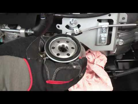 How to change the oil and filter on your riding mower   Get Running with Troy-Bilt