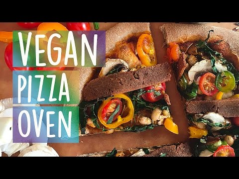 Homemade Vegan Pizza in an Outdoor Pizza Oven