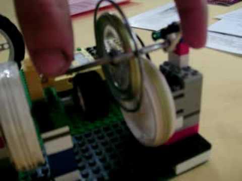 Lego CVT flywheel experiment