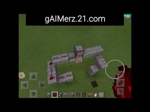 How To Make A Redstone Ore Lamp in Minecraft PE
