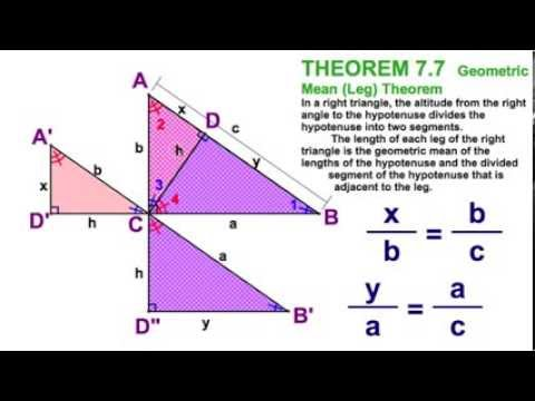7.3 Altitude to Hypotenuse - Three Theorems