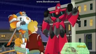 Sideswipe in Transformers Rescue Bots