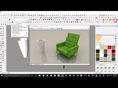 Sketchup Tutorial In Hindi : How To Make A Chair In Sketchup Part - 8