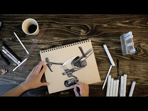 Product Design Sketching Tutorial - DJI Inspire