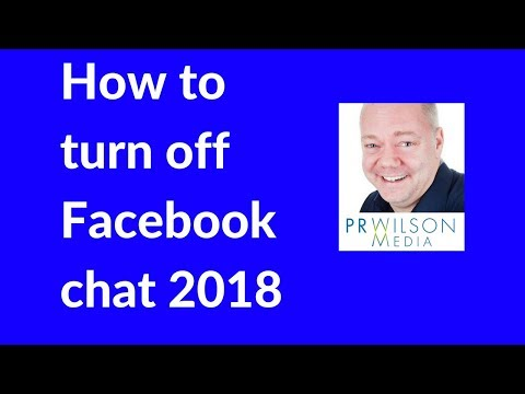 How to turn chat off Facebook 2018