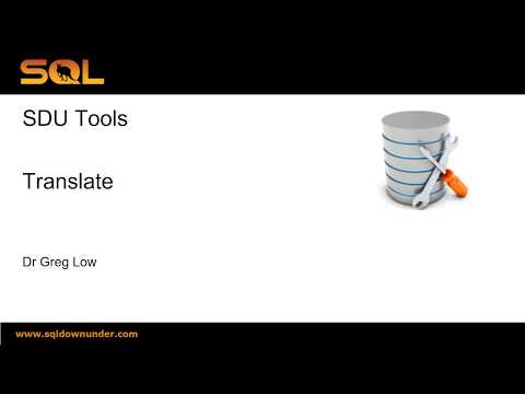 SDU Tools 61 Translate SQL Server T-SQL strings to avoid nested REPLACE operations