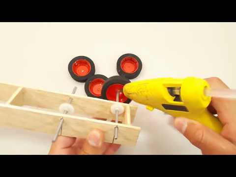 How to make RC / Remot control truck trailer from wooden