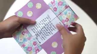 """El amor de madre es infinito, así como esta tarjeta hecha a mano. En esta entrega te enseñamos como realizar un """"never-ending card"""" con materiales sencillos. ¡Atrévete!"""