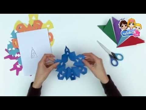How to make paper snowflakes - Kids Craft (Hellokids)