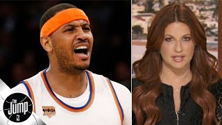 NBA players texted me 'what about Melo?' after Joe Johnson got signed - Rachel Nichols | The Jump
