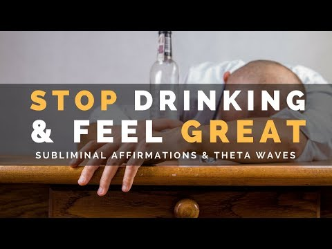STOP DRINKING & FEEL GREAT | Subliminal Affirmations to Relax & Cope with Stress Without Alcohol