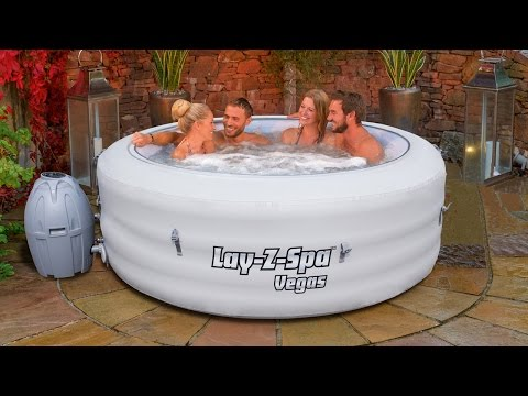 Lay Z Spa Vegas Inflatable Airjet Hot Tub TV Advert 2015