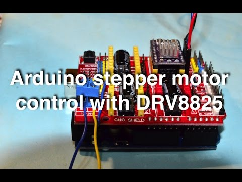 Arduino stepper motor control with CNC shield and DRV8825 (with code!!)