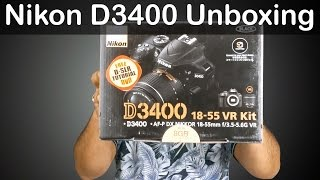 Nikon D3400 Review - Unboxing & First Look | Nothing Wired