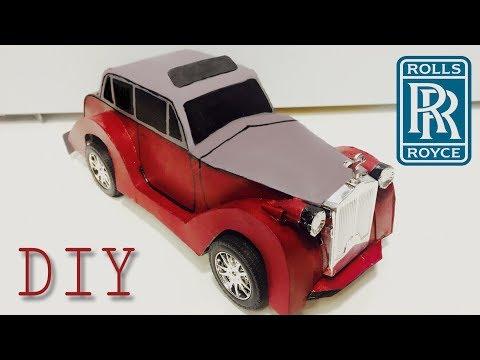 DIY Vintage Rolls Royce Rental toy car out of cardboard