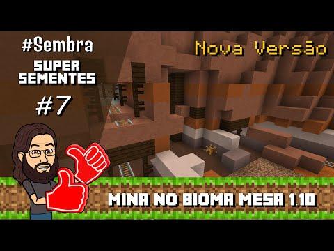 Minecraft - 1.10 - Super Semente de Bioma Mesa com Mina Abandonada e Muito Ouro