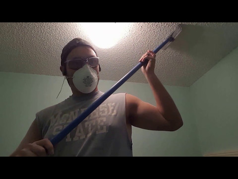 Easy popcorn ceiling removal,  no patching.