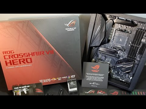 ASUS ROG Crosshair VII Hero AM4 AMD X470 Unboxing and Quick Overview