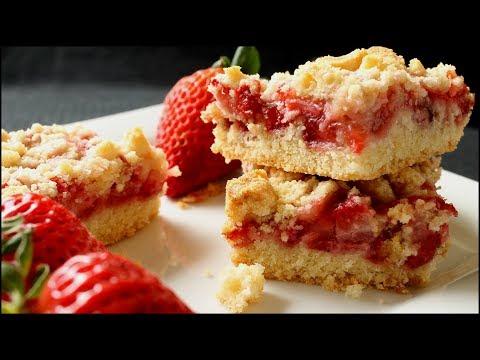 Strawberry Crumb Bars - Crumb Bars Recipe