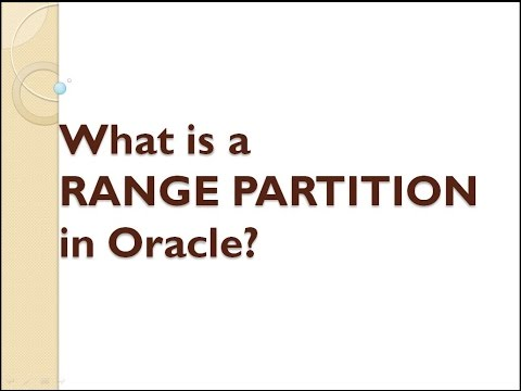 What is the RANGE PARTITION in Oracle ?