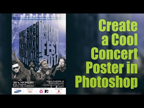 Creating a Cool Concert Poster in Photoshop | Photoshop tutorial in Hindi