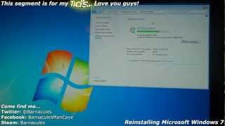 Complete Format And Re Install Of Microsoft Windows 7 Ultimate X64 On