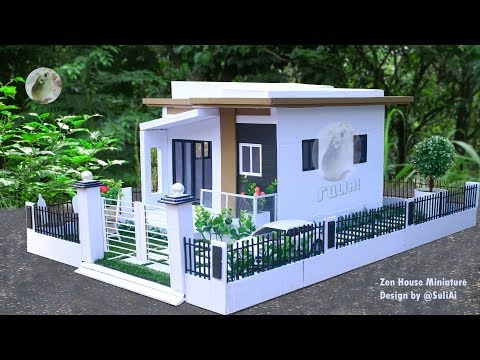 Zen House Miniature Design | Most Satisfying Doll House DIY Project | Minecraft & Sketchup Challenge