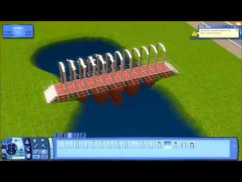 how to make a funky bridge on sims 3