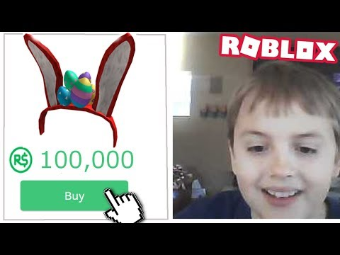 Kid spends 100,000 ROBUX on this item