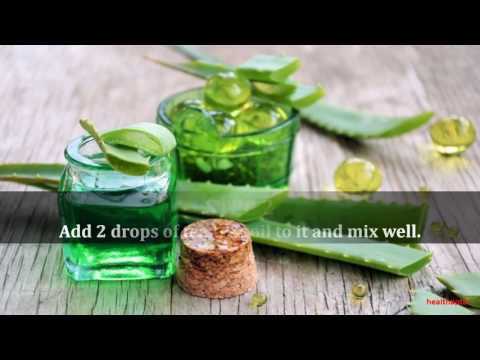 Tea Tree Oil with Aloe Vera Gel for Acne Removal