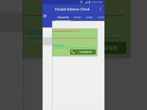 Etisalat Balance Check (UAE) App for Android