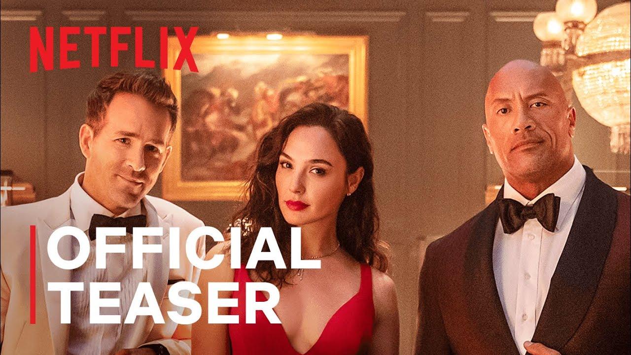 RED NOTICE   Official Teaser   Dwayne Johnson, Ryan Reynolds, Gal Gadot   Netflix India