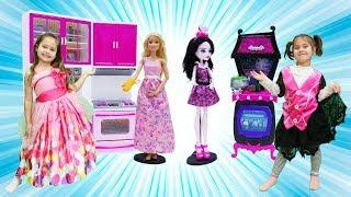 Download Barbie ve Monster High ile kız oyunları. Mutfağa eşyaları yerleştirelim. Video