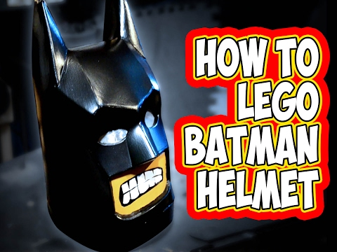 How to make Lego Batman  foam helmet