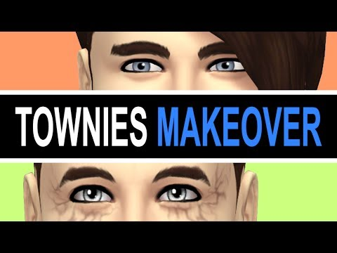 SIMS 4 TOWNIES MAKEOVER CALEB VATORE 💙 CAS