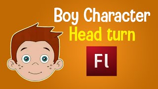 Flash Animation Tutorial - Character Head Turn Animation