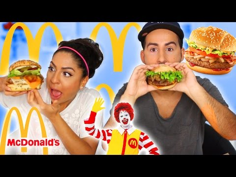 McDonalds Taste Test - Crazy Build Your Own Burger!
