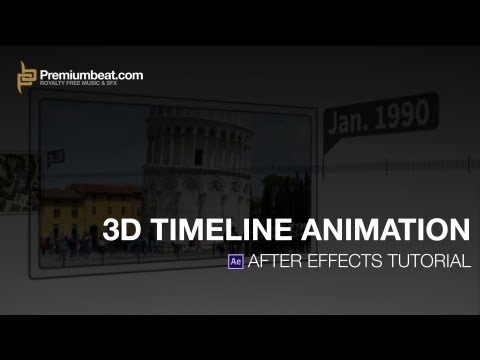 After Effects Video Tutorial: 3D Timeline Animation