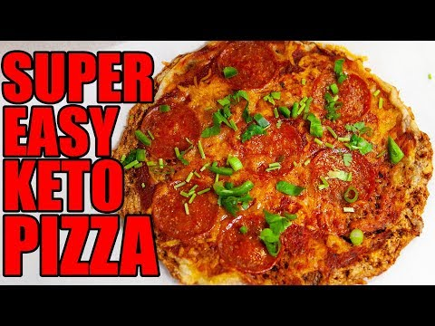 3 Ingredient Keto Pizza! Super Easy!