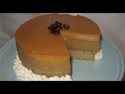 Coffee Caramel Mousse Cake