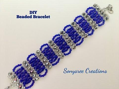 Bicone Seed Beads Bracelet