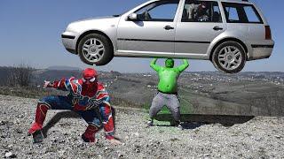 Hulk and Spider-Man Play Hide and Seek